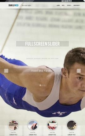 Diavlo Gymnastics Website Template