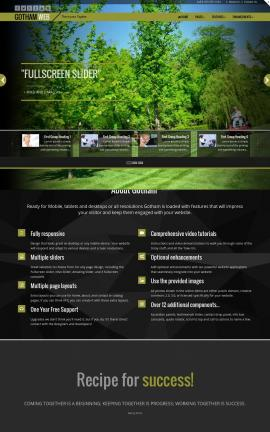 Gotham Landscaping Website Template