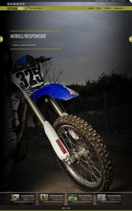 Gotham Motocross Website Template