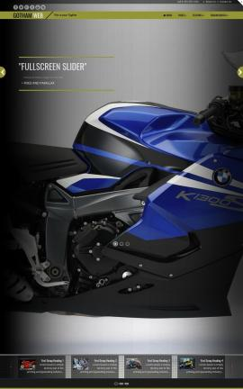 Gotham Motorcycle Dreamweaver Template