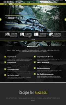 Gotham Snowmobile Website Template