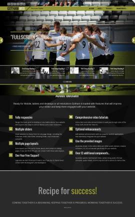 Gotham Soccer Website Template