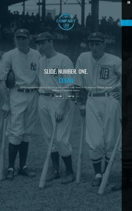 Onyx Baseball Website Template