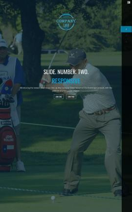 Onyx Golf Website Template