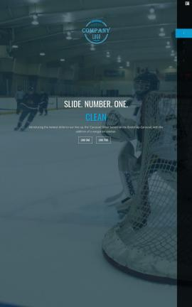 Onyx Hockey Website Template