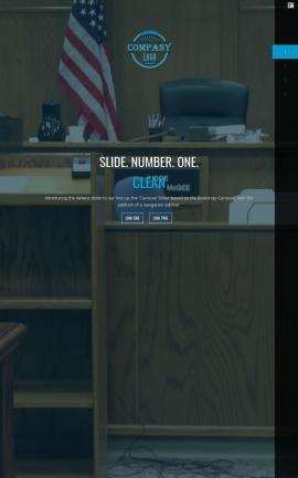 Onyx Law Website Template