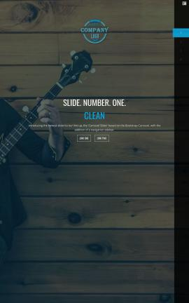 Onyx Music Website Template