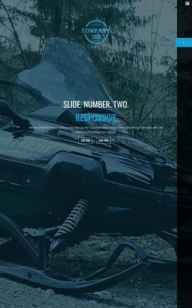 Onyx Snowmobile Website Template