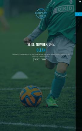 Onyx Soccer Website Template