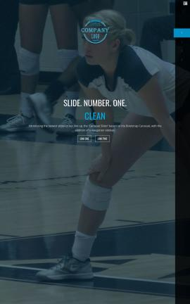 Onyx Volleyball Website Template