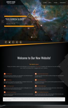 Denmark Astronomy Website Template
