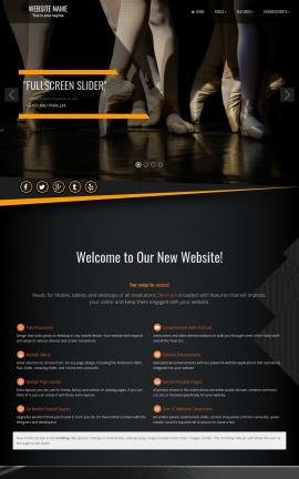 Denmark Dance Dreamweaver Template
