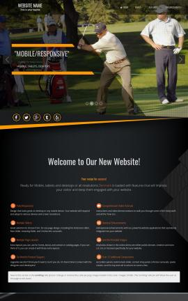 Denmark Golf Website Template