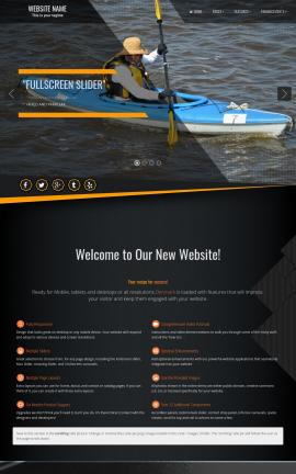 Denmark Kayak Website Template