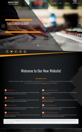 Denmark Music Website Template