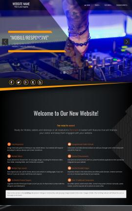 Denmark Night-club Website Template
