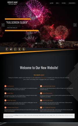 Denmark Patriotic Website Template