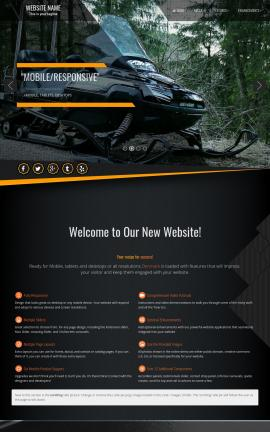 Denmark Snowmobile Website Template