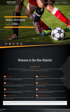 Denmark Soccer Website Template