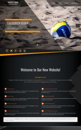 Denmark Volleyball Website Template