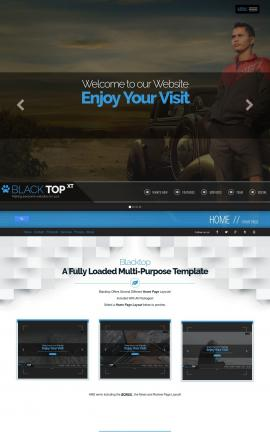 Blacktop Automobile Website Template