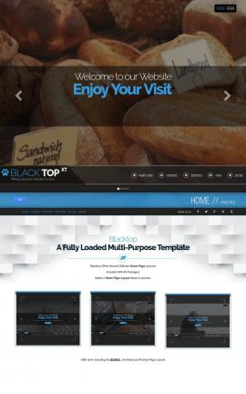 Blacktop Bakery Website Template