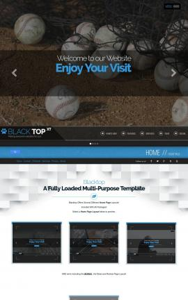 Blacktop Baseball Website Template
