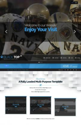 Blacktop Football Website Template