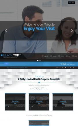Blacktop Insurance Website Template