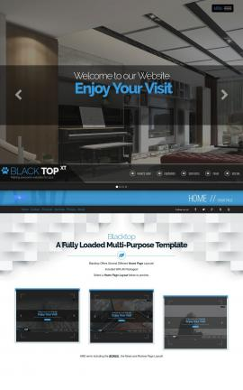 Blacktop Interior-design Website Template
