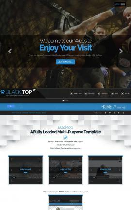 Blacktop Martial-arts Website Template