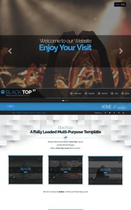 Blacktop Night-club Website Template