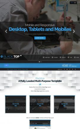 Blacktop Plumbing Website Template