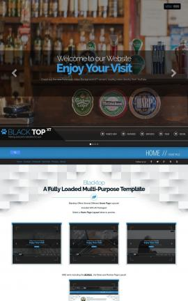 Blacktop Pub Website Template