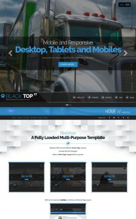 Blacktop Trucking Website Template