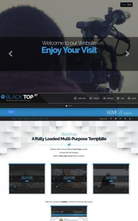 Blacktop Videography Website Template