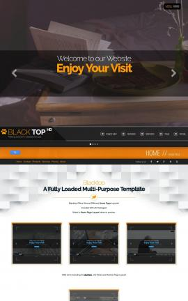 Blacktop Bed-and-breakfast Website Template