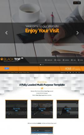 Blacktop Business Website Template