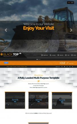 Blacktop Heavy-machines Website Template