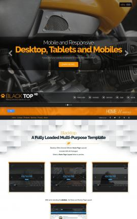 Blacktop Motorcycle Website Template