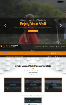 Blacktop Photography Website Template