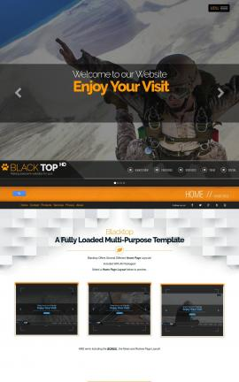 Blacktop Sky-diving Dreamweaver Template