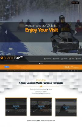 Blacktop Snowmobile Website Template