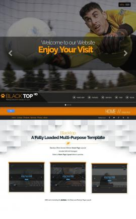 Blacktop Soccer Website Template