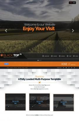 Blacktop Agriculture Website Template