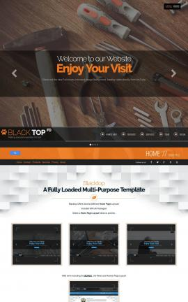 Blacktop Construction Website Template