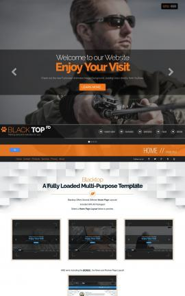 Blacktop Fishing Website Template