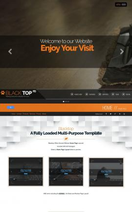 Blacktop Janitorial Website Template