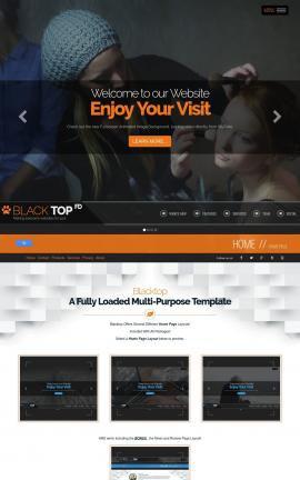 Blacktop Makeup-artist Website Template