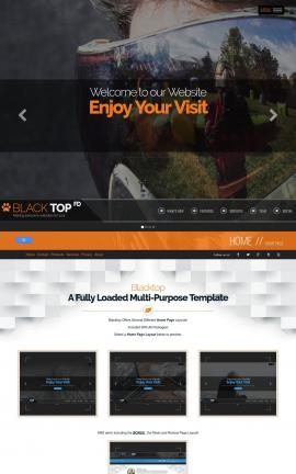 Blacktop Paintball Website Template